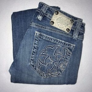 Miss Me Embroidered Floral Bootcut Jeans 28 30